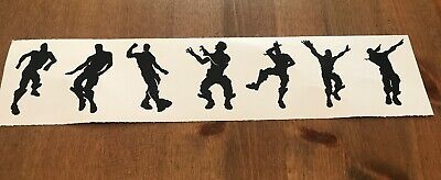 dinks 9x Fort Dancing Men xbox stickers vinyl wall bottle gaming Nite 6cm tall