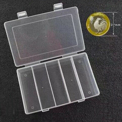 Plastic Storage Box Collection Case For 100pcs 27/30mm Coin Capsules Holder