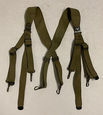 Original WWII M1936 Combat Suspenders 1942 Dated