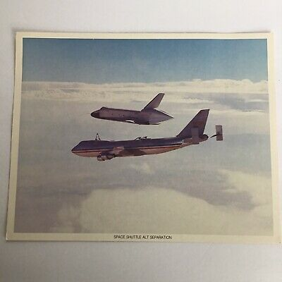 Photograph of Space Shuttle Enterprise on 747 at Separation