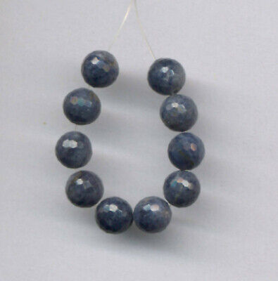 """FACETED SAPPHIRE 6MM ROUND BEADS - 2"""" Strand - 2116"""