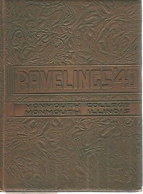 Original 1940 Monmouth College Illinois Yearbook-Ravelings+ The Oracle 1940