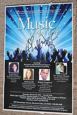 Arielle Jacobs SIGNED Poster - Alladin - In the Heights - Broadway