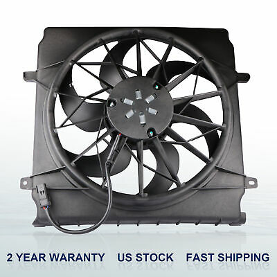 CH3117101 OE Style Radiator Cooling Fan Shroud Assembly Replacement for Jeep Liberty 3.7L 02-07