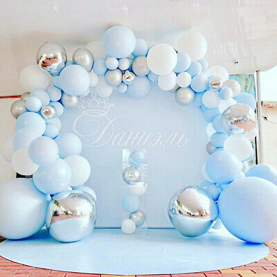 Details about  /Baby Shower Garland Set Rose Gold Confetti Balloon Arch Kit Macaron Balloons