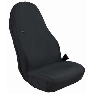 Heavy Duty Seat Cover Winged Universal Front Black WUFBLK-221