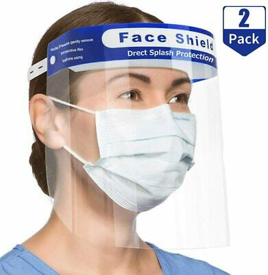 Safety Face Shield Clear Protector Medical Face Mask Reusable Anti-Flog US