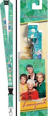 The Golden Girls Name and Art Images Lanyard with Photo Badge Holder NEW UNUSED