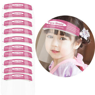 10PCS Safety Children Full Face Covering Shield Clear Protector Anti-fog Splash