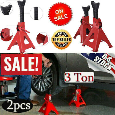 """Car Jack Stands 2 Ton Vehicle Support 17/"""" High Lift Garage Auto Tool Set 2 Pack"""