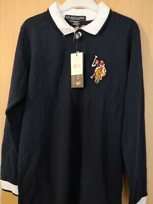 Kids Boys US Polo Assn USPA Children PE School Cotton Polo T Shirt Top Age 4-12