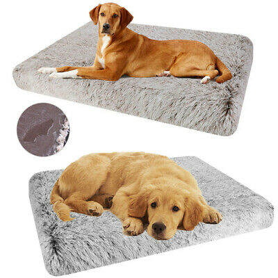Jumbo Orthopedic Foam Dog Bed Waterproof Faux Fur Large Pet Bed Removable Cover