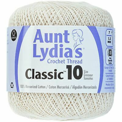 182-65 Aunt Lydia/'s Fashion Crochet Thread Size 3-Warm Teal