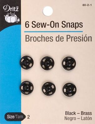 Black Dritz 80-125-1 Sew-On Snaps 30-Mm 2 Count