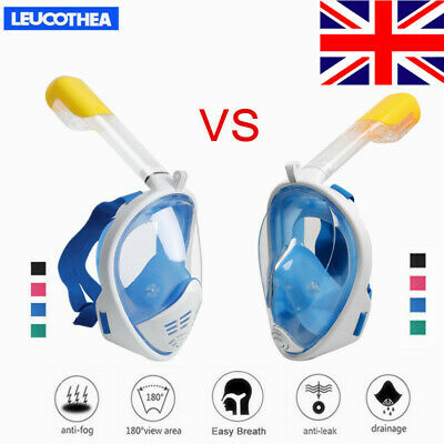Anti Fog Full Face Snorkel Mask Diving Scuba Swimming Goggles Pipe for GoPro UK
