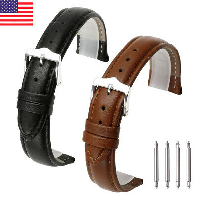 Watchband Genuine Leather Watch Band Strap 18mm 20mm 22mm Cowhide Bracelet US