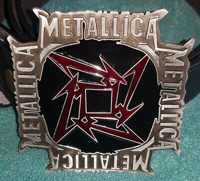 NEW METALLICA NINJA STAR OFFICIAL LICENSED BELT BUCKLE Novelli Metal Rock