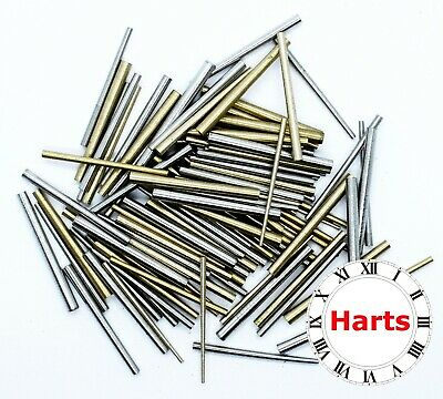 100 units Quality Brass and Steel Taper Assorted Clock Pins Repairs parts
