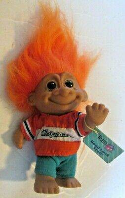 "NEW STORE STOCK LAST ONES MIAMI DOLPHINS SPORTS TROLL 5/"" Russ Troll Doll"