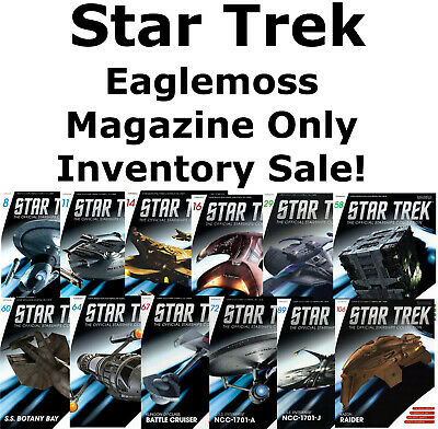 Star Trek Eaglemoss Magazine ONLY- Special Inventory Sale!  Your Choice of 100+