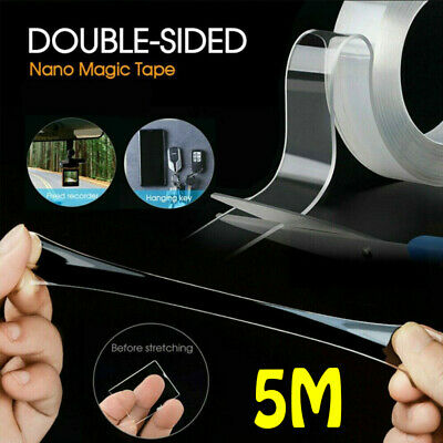 5M Multi Function Nano Tape Gel Transparent Reusable Double-sided Traceless