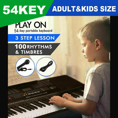 Musical Keyboard Piano 54 Keys Electronic Electric Digital Beginner Adult Set Eo