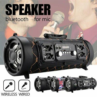 Portable Wireless Bluetooth Dual Speaker Led Stereo Bass HIFI AUX TF FM Radio