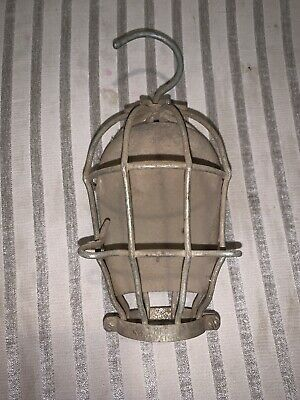 16 Vintage McGill Wire Metal Trouble Drop Light Bulb Cage Industrial Steampunk
