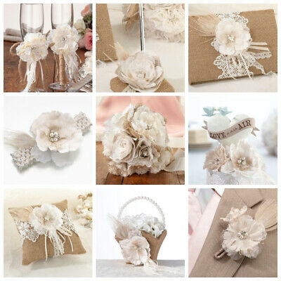 Rustic Hessian / Burlap and Lace Wedding Accessories