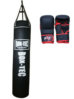 4ft Heavy Punch Bag Professional Training MMA Bags fitness Shooter Gloves