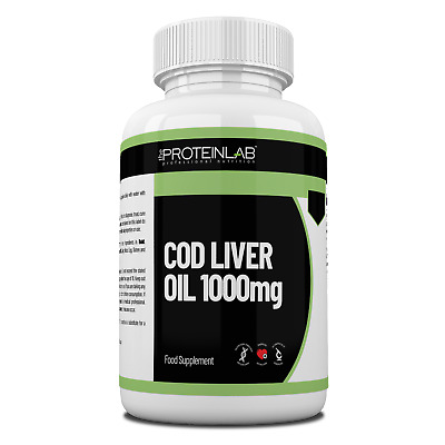 Cod Liver Oil 1000mg High Strength 14 to 360 Soft-gel Capsules Free P&P