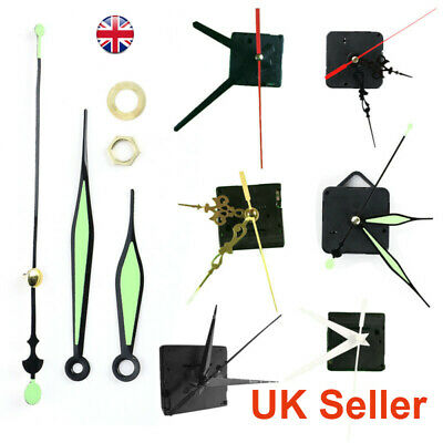 DIY Black Quartz Wall Clock Movement Mechanism Replacement Repair Tool UK