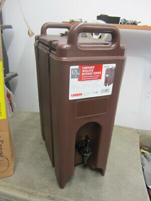 NEW Cambro - 500LCD131 - 4 3/4 gal Brown Camtainer® Hot/Cold Beverage Carrier
