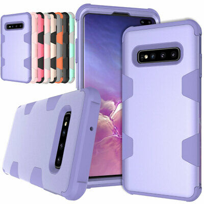 For Samsung Galaxy S8 S9 S10 Plus Note 8 Heavy Duty Rubber Hard Phone Case Cover