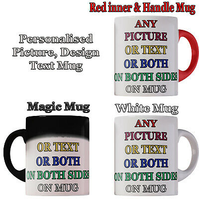 Personalised Mug magic Cup Christmas Friendship Day Gift Any picture Name Text