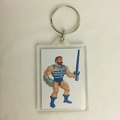 CARTOON DEBUT POSTER Key Ring Chain Keyring He-Man Masters of the Universe MOTU