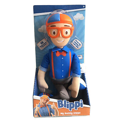 BLIPPI MY BUDDY BLIPPI TALKING DOLL NEW SOUND 15 DIFFERENT PHRASES RARE