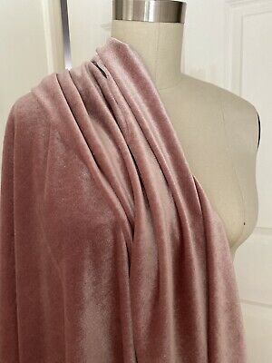 Velvet Fabric Stretch Textile Sewing Dusty Pink 1 Yard