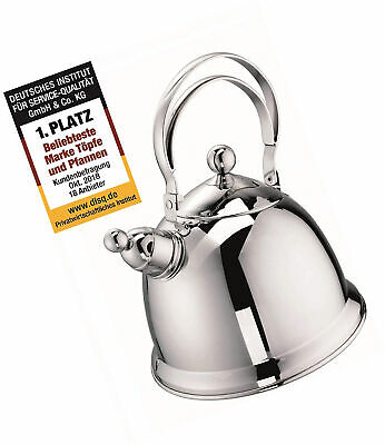 Stainless Steel 18//10 Schulte-Ufer Whistling Kettle Wickie Teakettle 68170-20 1.5 L