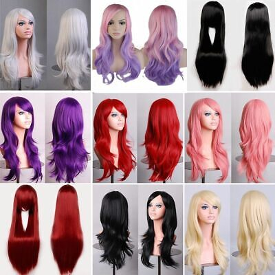 Womens Sexy Long Short Wavy Curly Fancy Dress Wig Cosplay Pop Party Costume Full