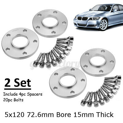 Hubcentric Alloy Wheel Spacers Kit 15mm Audi A7 Sportback 4GA 5x112 66.6mm