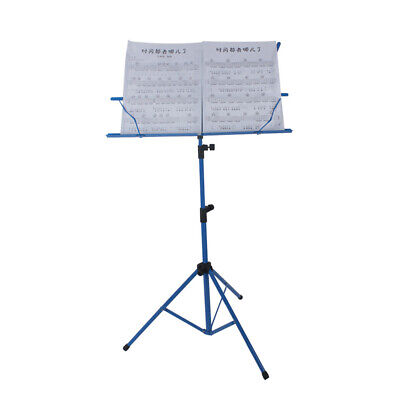 Lightweight Sheet Music Metal Stand Holder Folding Foldable with Bag NEW T8P4