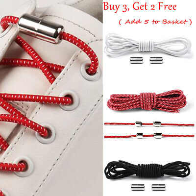 Adults Easy No Tie Rubber Shoe Laces For Kids Trainers Canvas Elastic ShoeLaces