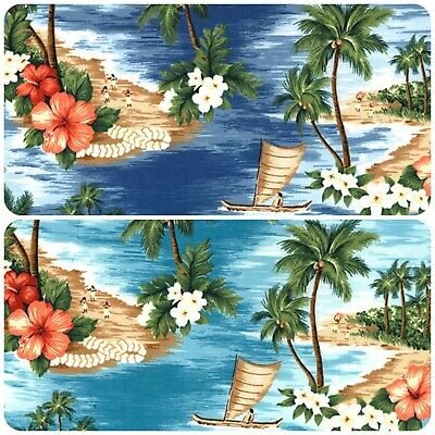 ROSE /& HUBBLE HAWAIIAN ISLAND /& PALM TREES 100/% CRAFT COTTON PRINT FABRIC