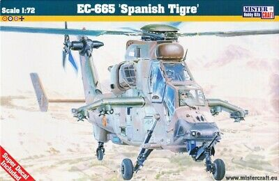 """European Attack Helicopter PAH-2 /""""Tiger/""""  # Scale 1//72 # MISTERCRAFT D-58"""