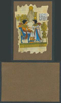Egypt Genuine Hand Painted Papyrus Old Card Novelty Egyptian Art, King and Queen