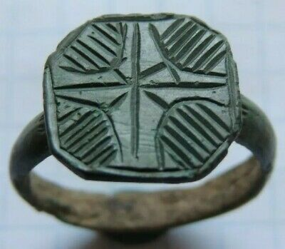 Ancient bronze ring  Middle Ages