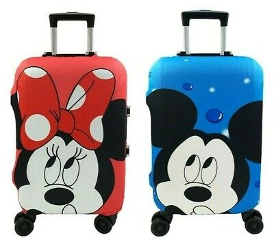 Protective Luggage Cover Suitcase Minnie Mickey Mouse Travel Elastic Dust Case
