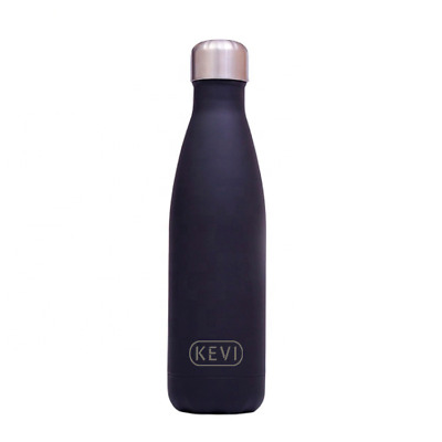 Botella Kevi de Acero Inoxidable 500 ml. Negro