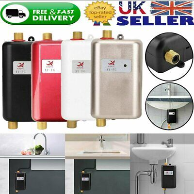 Electric Tankless Instant Hot Water Heater Under Sink Tap Bathroom Kitchen New
